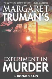 Cover art for MARGARET TRUMAN'S EXPERIMENT IN MURDER