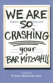 Book Cover for WE ARE SO CRASHING YOUR BAR MITZVAH!!
