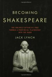 Cover art for BECOMING SHAKESPEARE