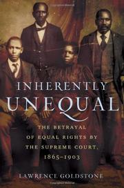 Book Cover for INHERENTLY UNEQUAL