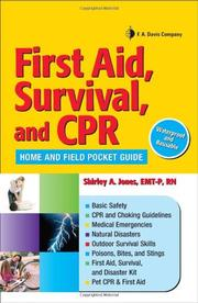 First Aid, Survival, and CPR by Shirley A. Jones