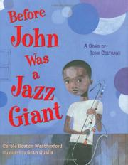 Book Cover for BEFORE JOHN WAS A JAZZ GIANT