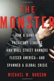 Cover art for THE MONSTER