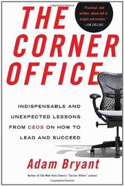 Cover art for THE CORNER OFFICE