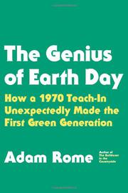THE GENIUS OF EARTH DAY by Adam Rome