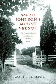 Cover art for SARAH JOHNSON'S MOUNT VERNON