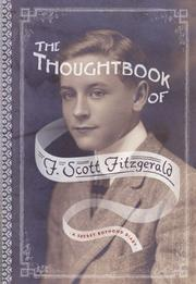 THE THOUGHTBOOK OF F. SCOTT FITZGERALD by F. Scott Fitzgerald