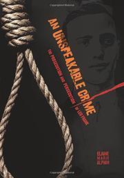 AN UNSPEAKABLE CRIME by Elaine Marie Alphin