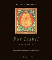 FOR ISABEL by Antonio Tabucchi