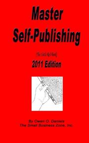 Book Cover for MASTER SELF-PUBLISHING 2011 EDITION