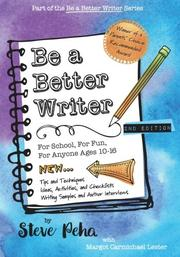 BE A BETTER WRITER by Steve Peha