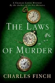 THE LAWS OF MURDER by Charles Finch
