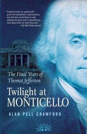 Cover art for TWILIGHT AT MONTICELLO