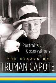 Cover art for PORTRAITS AND OBSERVATIONS