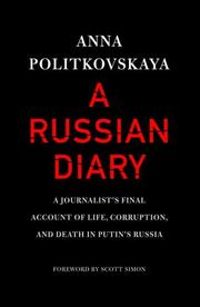 Book Cover for A RUSSIAN DIARY