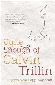 Cover art for QUITE ENOUGH OF CALVIN TRILLIN