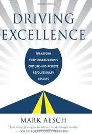 DRIVING EXCELLENCE by Mark Aesch