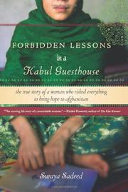 Cover art for FORBIDDEN LESSONS IN A KABUL GUESTHOUSE