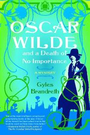 Book Cover for OSCAR WILDE AND A DEATH OF NO IMPORTANCE