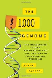 Cover art for THE $1,000 GENOME