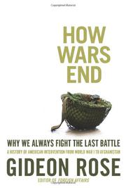 HOW WARS END by Gideon Rose