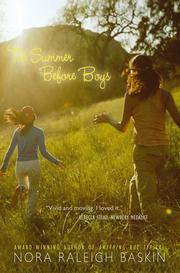 Book Cover for THE SUMMER BEFORE BOYS