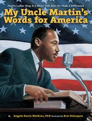 Book Cover for MY UNCLE MARTIN'S WORDS FOR AMERICA