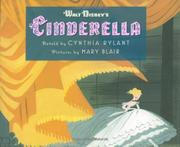 Cover art for WALT DISNEY'S CINDERELLA