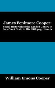 JAMES FENIMORE COOPER by William Emons Cooper