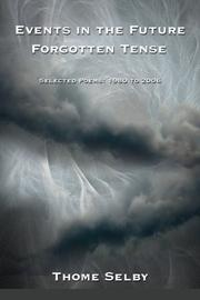 Book Cover for EVENTS IN THE FUTURE FORGOTTEN TENSE