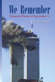 WE REMEMBER by L.A. Jones