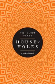 Cover art for HOUSE OF HOLES