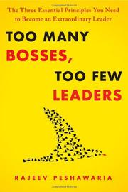 Book Cover for TOO MANY BOSSES, TOO FEW LEADERS