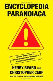 Cover art for ENCYCLOPEDIA PARANOIACA