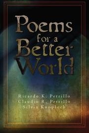 Book Cover for POEMS FOR A BETTER WORLD