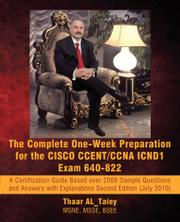 Book Cover for THE COMPLETE ONE-WEEK PREPARATION FOR THE CISCO CCENT/CCNA ICND1 EXAM 640-922