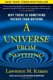 Book Cover for A UNIVERSE FROM NOTHING