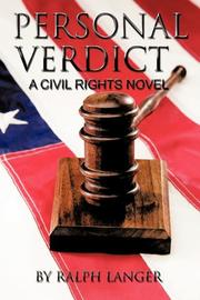 Cover art for PERSONAL VERDICT