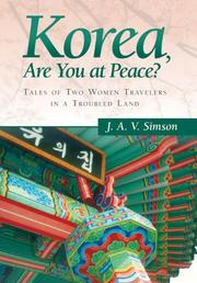 KOREA, ARE YOU AT PEACE? by J.A.V. Simson