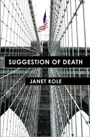 Cover art for SUGGESTION OF DEATH