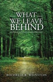 Book Cover for WHAT WE LEAVE BEHIND