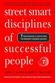 Book Cover for STREET SMART DISCIPLINES OF SUCCESSFUL PEOPLE