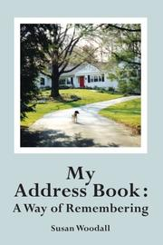 MY ADDRESS BOOK  by Susan Woodall
