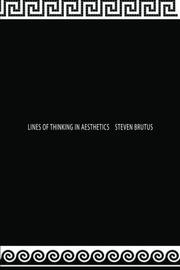 Cover art for LINES OF THINKING IN AESTHETICS