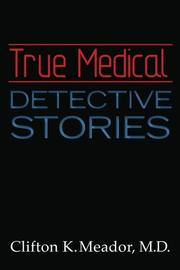 Cover art for TRUE MEDICAL DETECTIVE STORIES