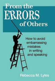 From the Errors of Others by Rebecca M. Lyles