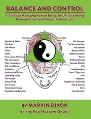 BALANCE AND CONTROL by Marvin Dixon