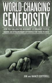 World-Changing Generosity by Nancy Cotterill
