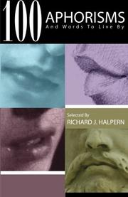 100 APHORISMS by Richard Halpern