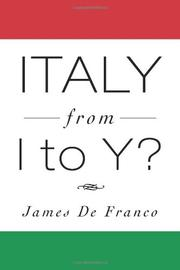 ITALY FROM I TO Y? by James De Franco